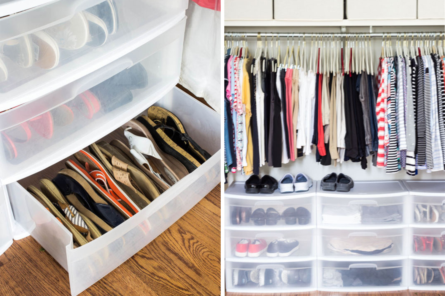 How To Organize Your Shoes Sandal Organizing Closet Drawers