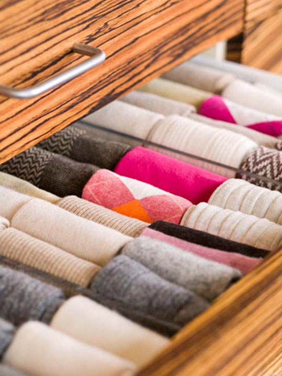 Socks, Socks, Socks! // 15 Minute Clutter Buster: Sock Drawer // simplyspaced.com