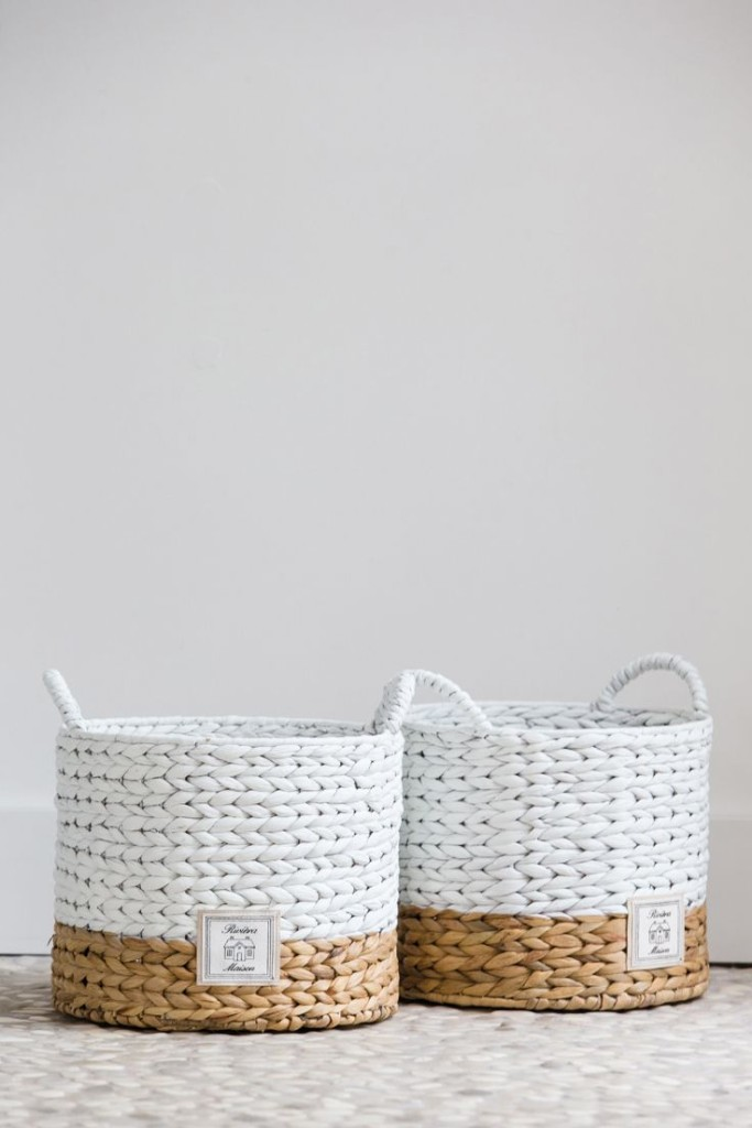 A Permanent Basket for Donation // One Basket To Avoid Clutter And Maintain an Organized Home // simplyspaced.com