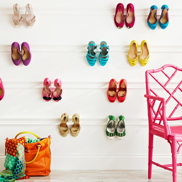 Organized closets // closet organizing // how to organize your shoes // shoe storage ideas // extra storage // DIY shoe storage // small space storage solutions // wall storage // www.SimplySpaced.com