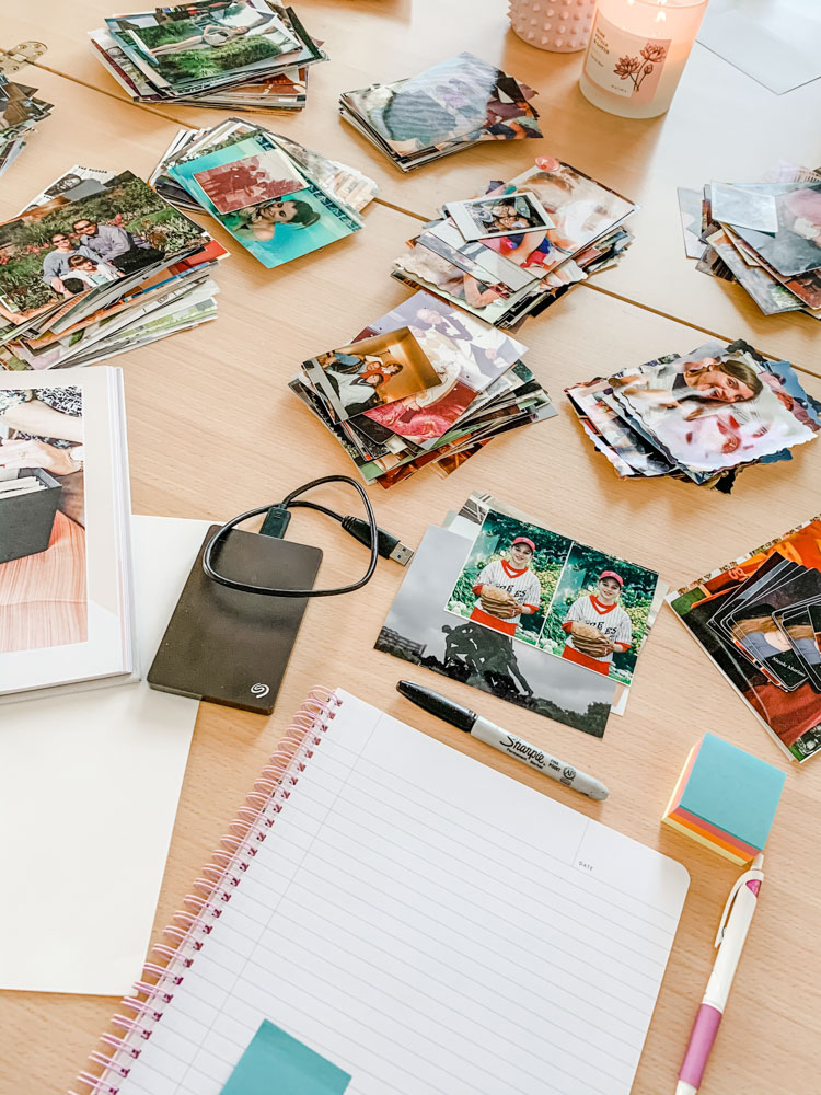 Photos getting organized using the Simply Spaced 3 step methodi